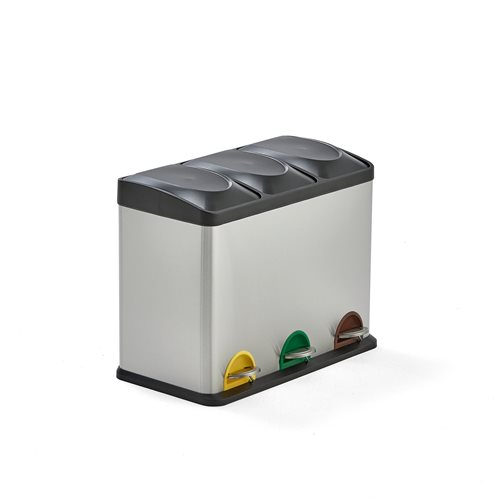Waste sorting unit: 3 bins: 45L