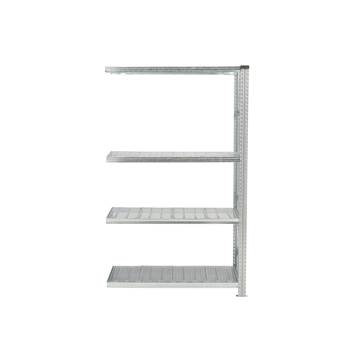 Galvanised shelving with sump tray, add-on unit, 19792x1200x600 mm, 29 L