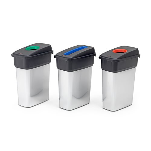 Recycling waste sorting bins