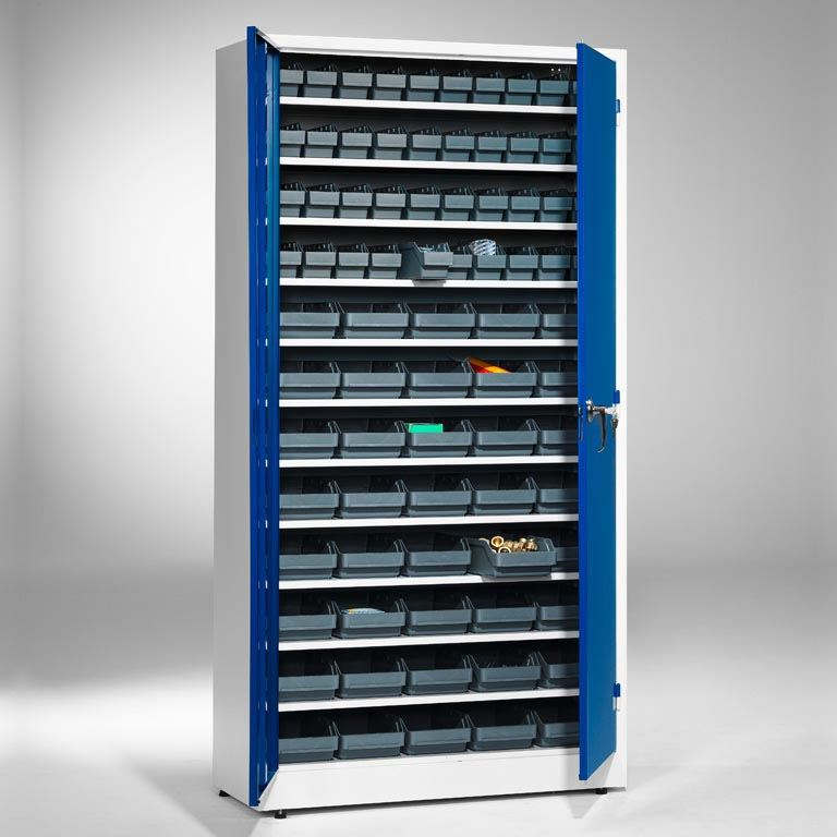 Small parts cabinet: 1900x1000x400mm: 80 bins