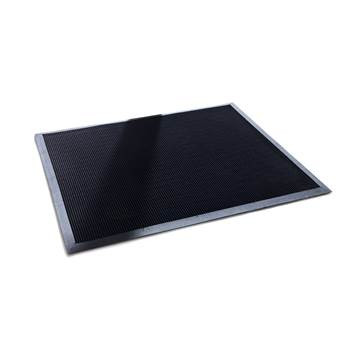 Rubber tip entrance mat, 600x800 mm, black