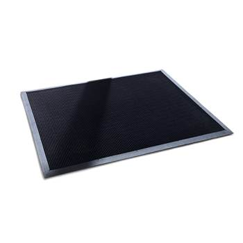Rubber tip entrance mat, 800x1000 mm, black