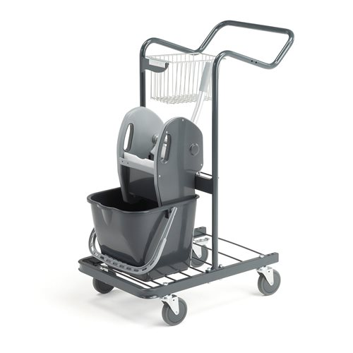 Robust cleaning trolley: 710x430x960mm