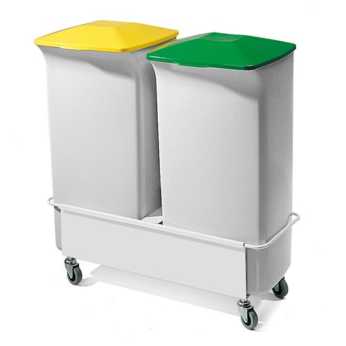 Refuse container: 2 x 40L bins + trolley