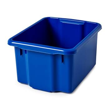 Storage box, 410x330x225 mm, 23 L, blue
