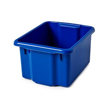 Storage box, 500x365x260 mm, 33 L, blue