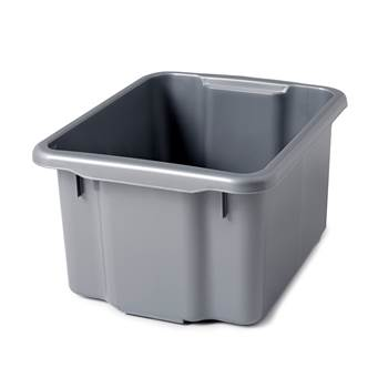 Storage box, 500x365x260 mm, 33 L, grey