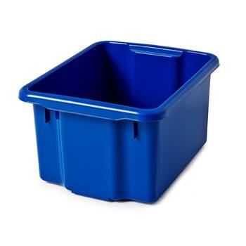 Plastkasse, 350x400x600 mm, 55 L, blå