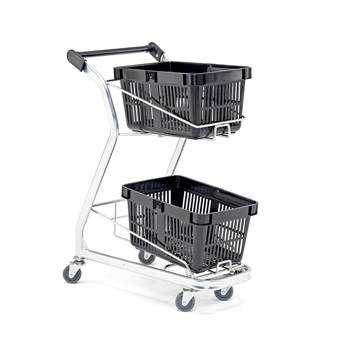 Basket trolley, 60 kg load, 540x460x990 mm