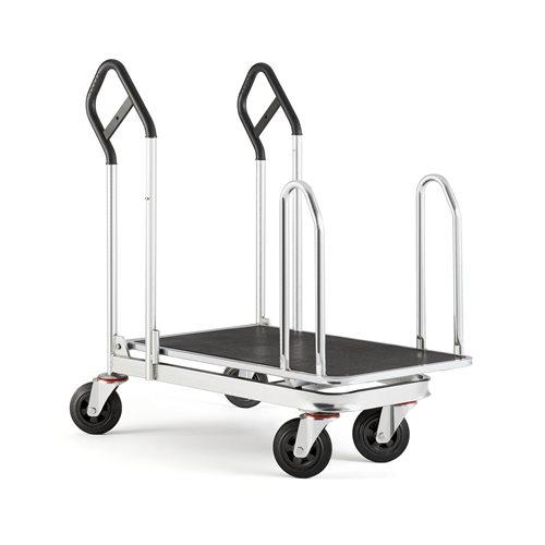 Platform trolley with sidebars