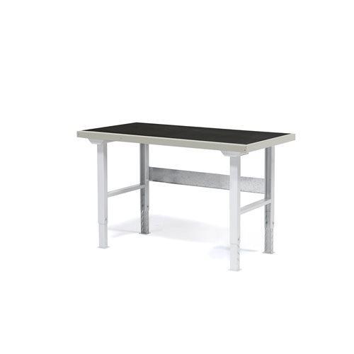 Työpöytä kumipäällysteellä korjaamoon, 1500x800 mm
