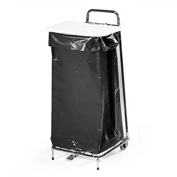 Refuse bag stand, 1050x430x450 mm, 125 L, white lid