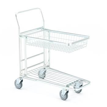 Wózek sklepowy, Górna półka koszyk