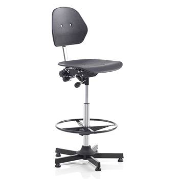 Multi-purpose industrial chair, H 650-900 mm, black plastic