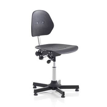 Multi-purpose industrial chair, H 475-600 mm, black plastic