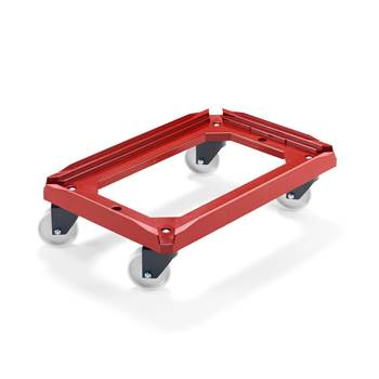 Plastic box dolly, 250 kg load, 610x410 mm
