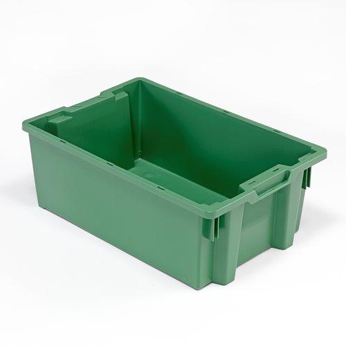 Zielona pojemnik plastikowy o poj. 40l - 400x220x600mm