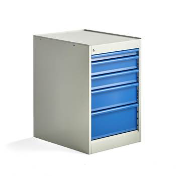 Elite drawer unit, static, 5 drawers, 800x520x665 mm