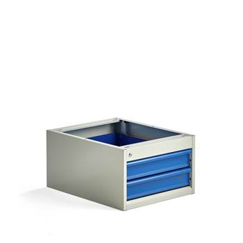 Elite drawer unit, under bench, 2 drawers, 330x520x665 mm