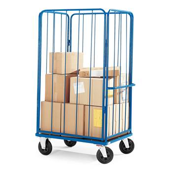 High sided cage trolley: L980xW710xH1595mm