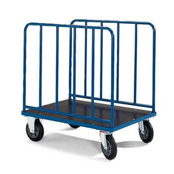High sided trolley, no brakes, 600 kg load, 1000x700x1045 mm