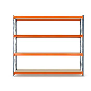 Widespan shelving, basic unit, 2500x2700x1000 mm, chipboard