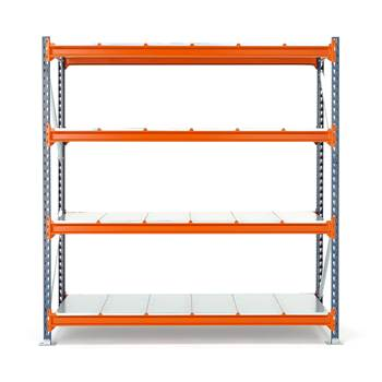 Widespan shelving, basic unit, 2000x1825x1000 mm, steel