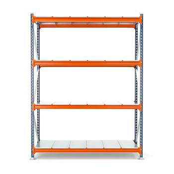 Widespan shelving, basic unit, 2500x1825x600 mm, steel