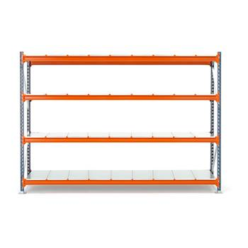 Widespan shelving, basic unit, 2000x2700x1000 mm, steel