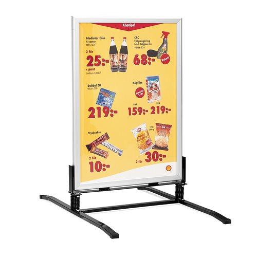 Lakier aluminium stojak reklaowy, potykacz, Plakat 70 x 100