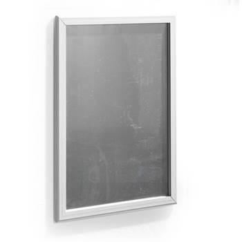 Reklamtavla, snäppmodell, 700x1000 mm, grå