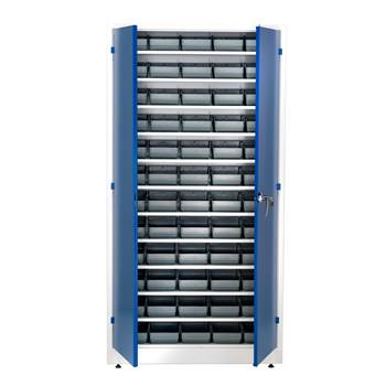 Small parts cabinet, 60 bins, 1900x1000x400 mm