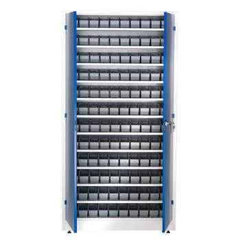 Small parts cabinet, 120 bins, 1900x1000x400 mm