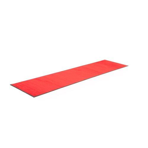 Sisääntulomatto sisäkäyttöön, 3000x850 mm, punainen