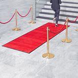 Sisääntulomatto sisäkäyttöön, 3000x1150 mm, punainen