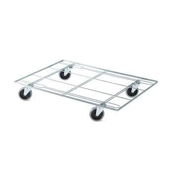 Stackable wire mesh trolley, 610x820 mm