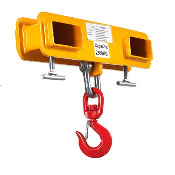 Adjustable fork mounted hook: 2500 kg
