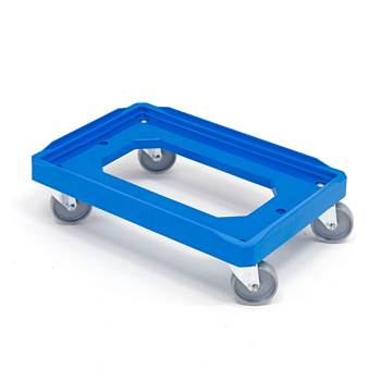 Plastic box dolly, 150 kg load, 620x420 mm