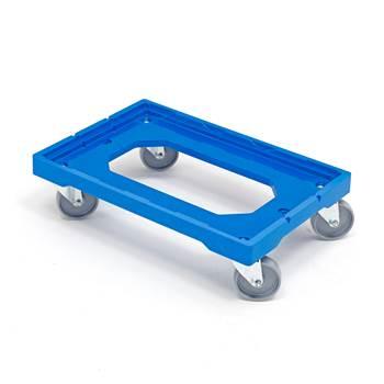 Plasttralle av ABS plast, kapasitet: 250 kg, 605x400 mm