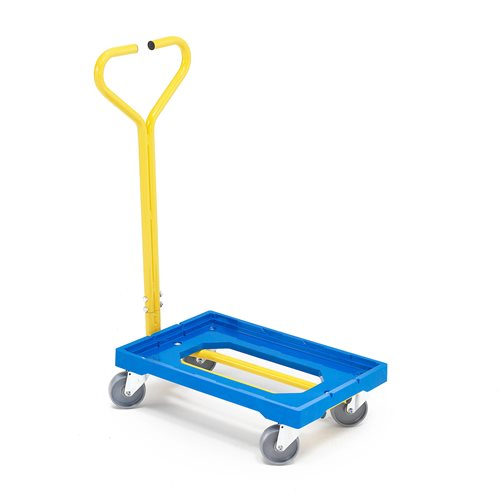 Plastic box dolly with tow bar: 250kg