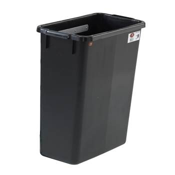 Waste bin for shelf trolleys