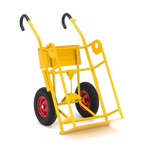 Wózek na butle z gazem, koła pneumatyczne