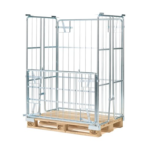 Pallet container: stackable: 1500mm