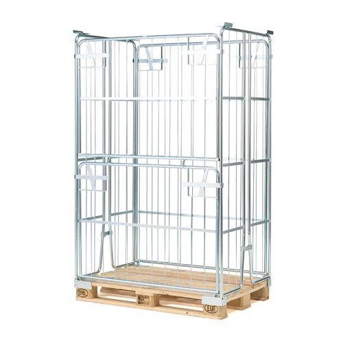 Pallet container: stackable: 1800mm