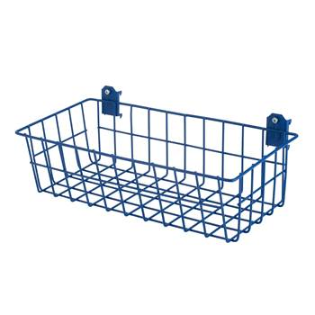 Wire basket for hook panels