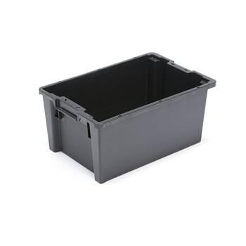Ympäristölaatikko, 50 litraa, 600x400x270 mm, harmaa