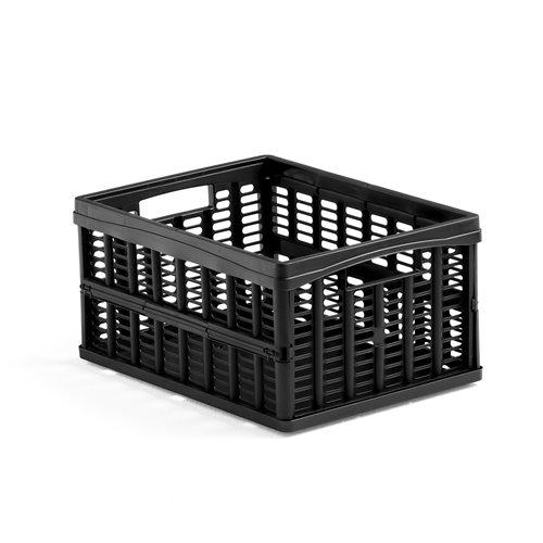 Muovilaatikko, kokoontaitettava, 32 litraa, musta