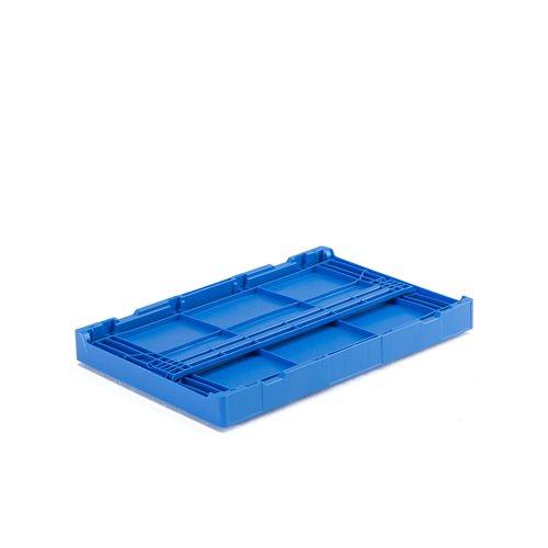 Klappbox, industri, blå, 600x400x285 mm AJ produkter