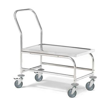 Stainless steel platform trolley, 150 kg load