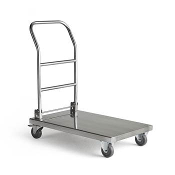 Collapsible stainless steel trolley